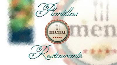 menu para restaurantes