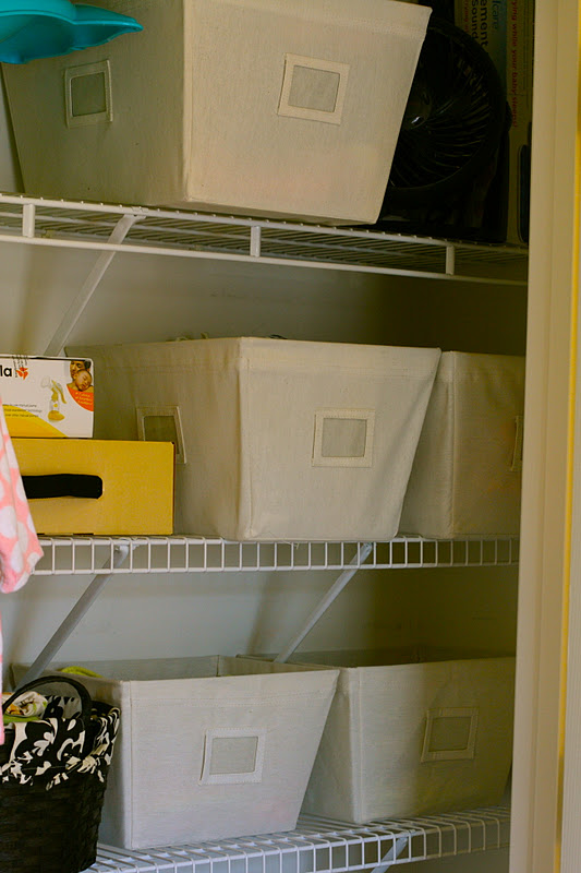 Literally Organized Nursery Progress Storage Solutions