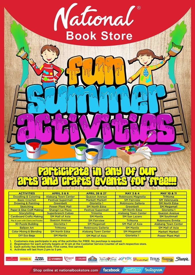 Manila Shopper Summer 2014 Workshops Activities For