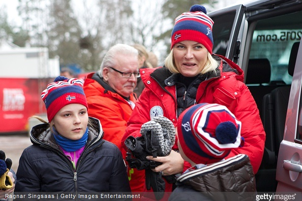 Princess Ingrid Alexandra of Norway, Crown Princess Mette-Marit of Norway and Prince Sverre Magnus of Norway