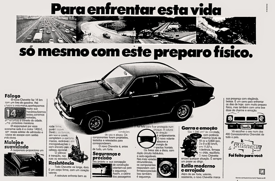 gm.  reclame de carros anos 70. brazilian advertising cars in the 70. os anos 70. história da década de 70; Brazil in the 70s; propaganda carros anos 70; Oswaldo Hernandez;