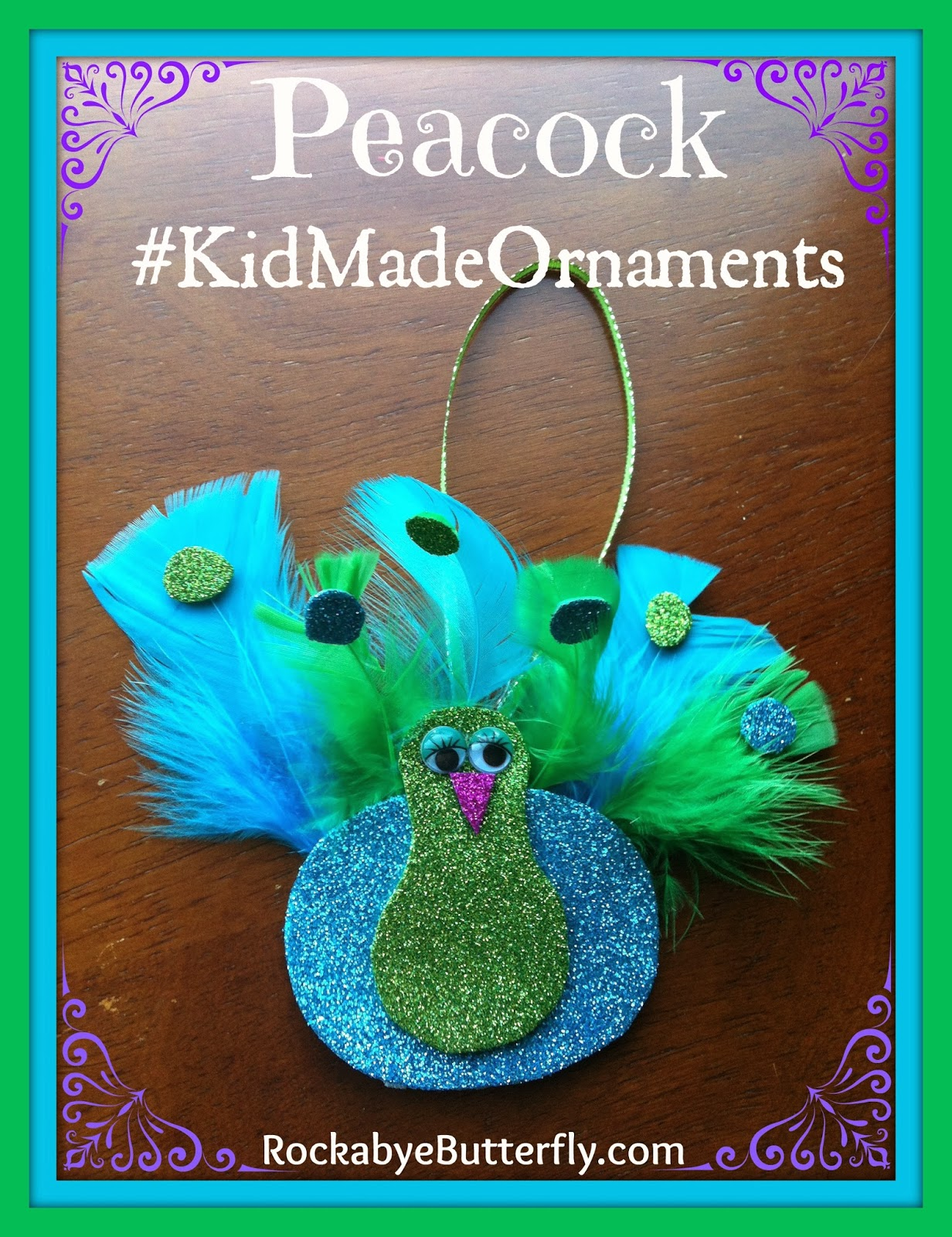 rockabye butterfly peacock tree ornament kid made christmas