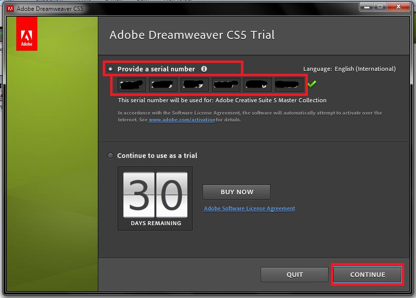 adobe dreamweaver cs5.5 serial key