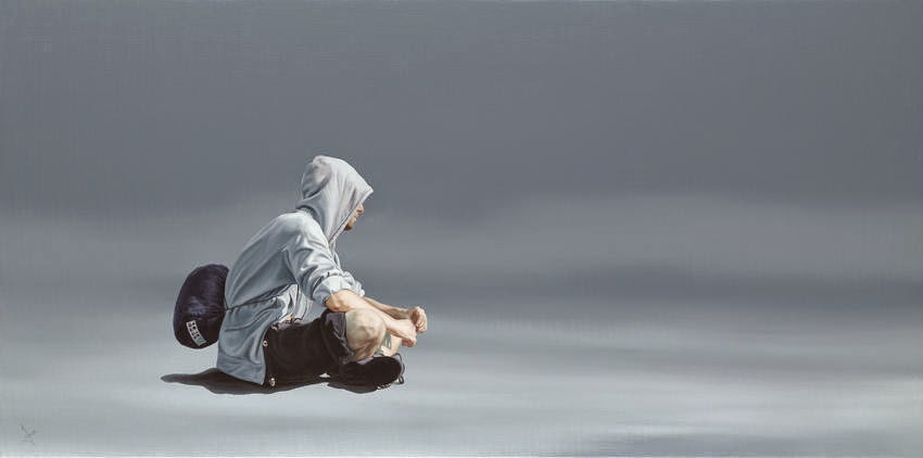25-The-Pilgrim-Nigel-Cox-Photo-realistic-Minimalism-in-Surreal-Paintings-www-designstack-co