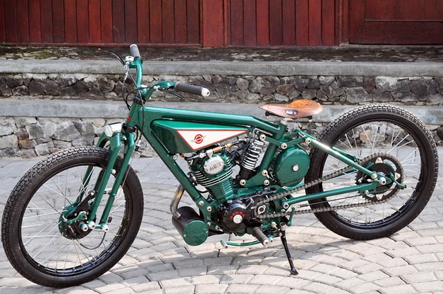 Honda GL100 Boardtracker Custom from Java, Indonesia