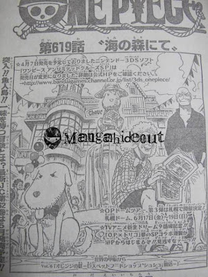 One Piece Raw Scans 619 One Piece 619 confirmed spoilers raw scans