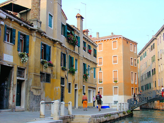 Venice by land—a walk along the fondamenta and over one of the 400 bridges that link together this ancient city.