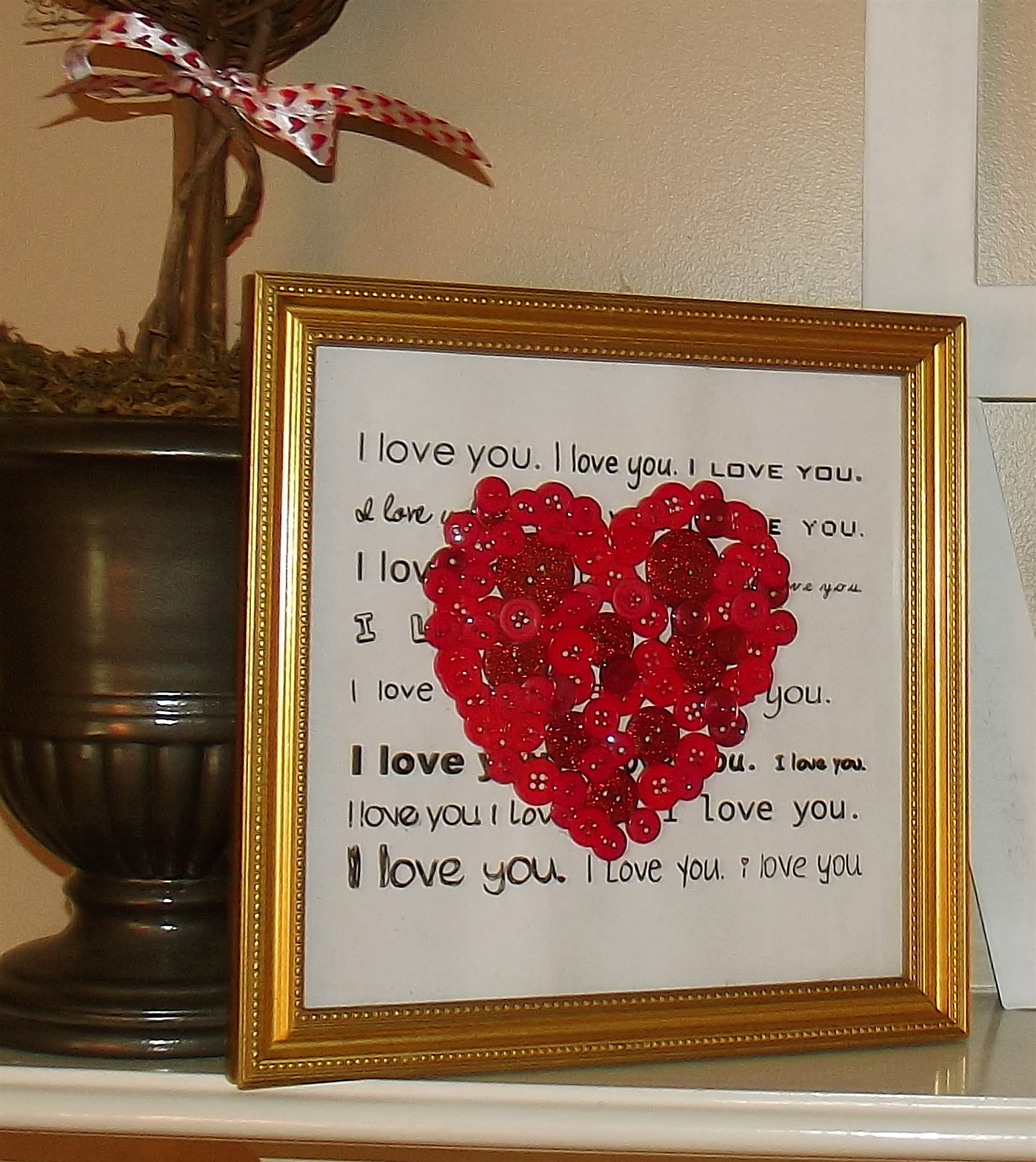Always something diy valentine 39 s day decor make a for Valentine decorations to make at home
