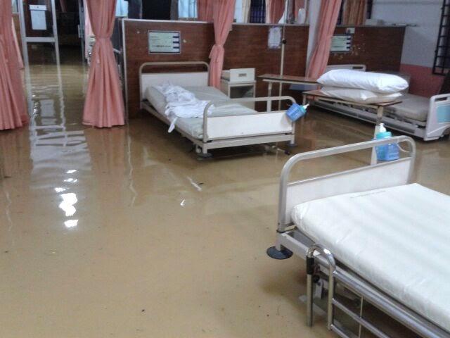 banjir 2014, kelantan, hospital, kuala krai