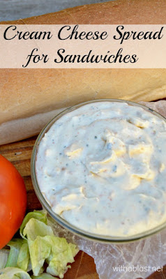 What to do with leftover meat ? Sandwiches of course - use this Cream Cheese Spread to add a delicious pin on an otherwise plain sandwich (also great on wraps & bagels !)