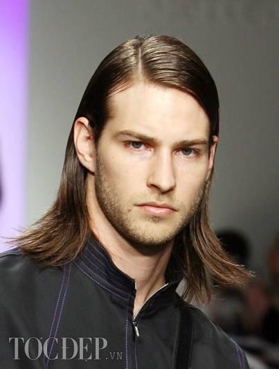 tóc dài chia ngôi - kiểu tóc nam đẹp 2013