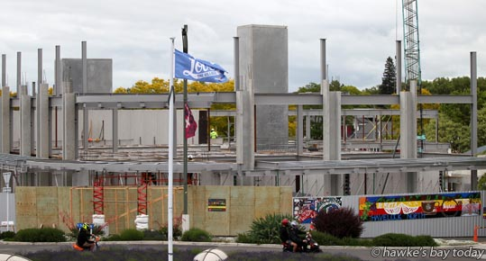 Progress on construction of the new five-star 42-room Porters Boutique Hotel in Havelock North. photograph
