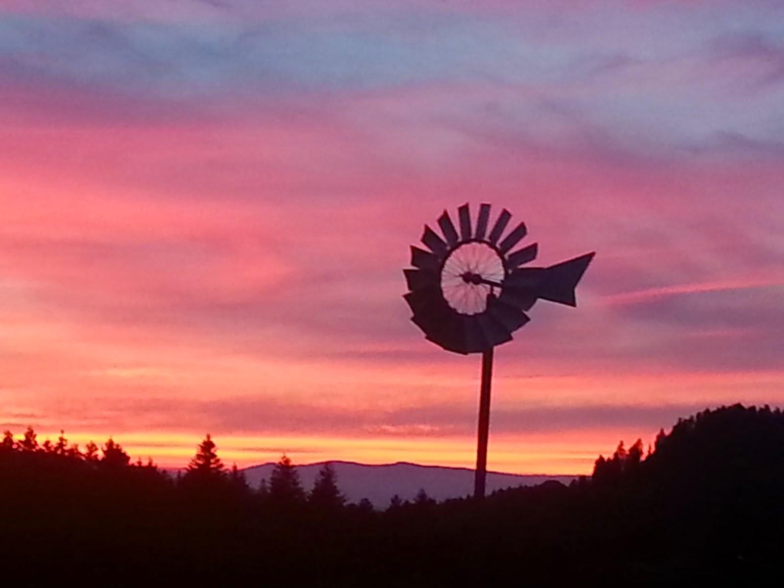 coucher de soleil à La Source