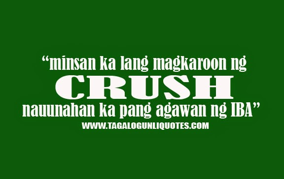Sad Quotes Tagalog CrushQuotes About Crush Tagalog Sweet