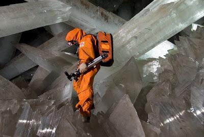 fotos Mina de Naica cristales gigantes