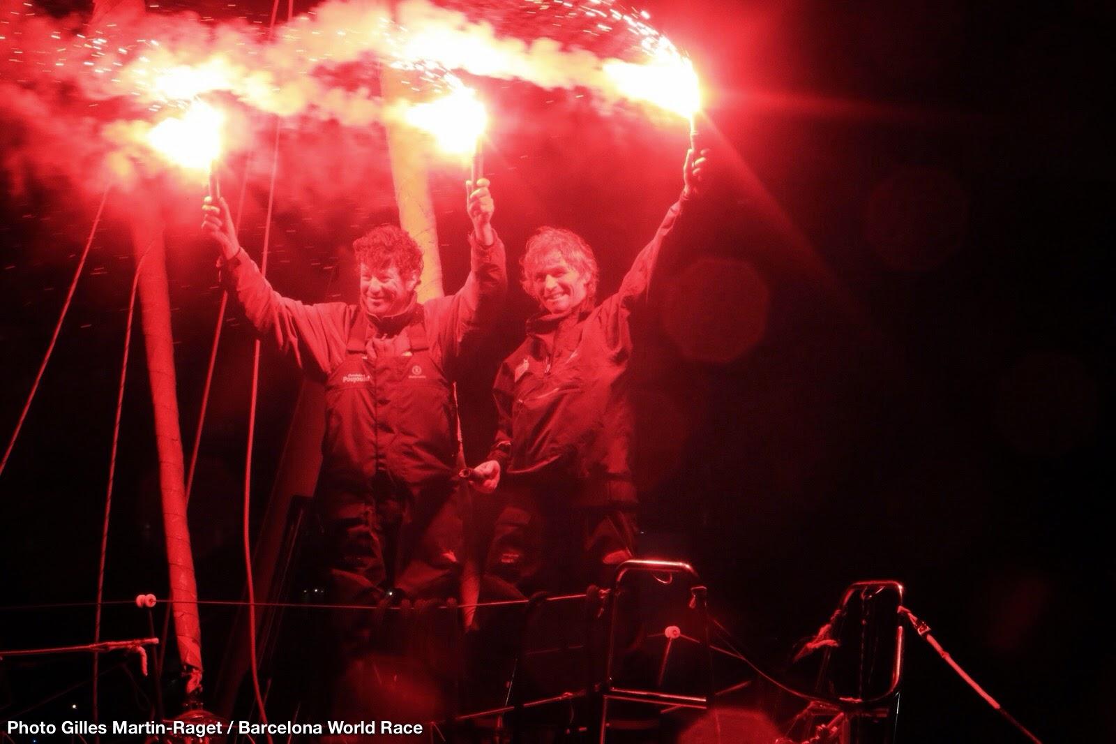 Victoire de Bernard Stamm et Jean Le Cam à Barcelone !
