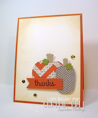 Pumpkin Thanks card-designed by Lori Tecler/Inking Aloud-stamps and dies from Lil' Inker Designs