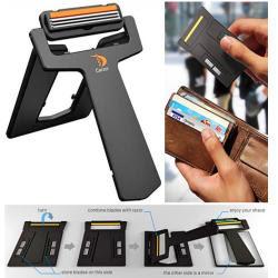 producto diseado para el ejecutivo con falta de tiempo o demasiadas prisas esta cuchilla de afeitar puede en la propia cartera o billetera