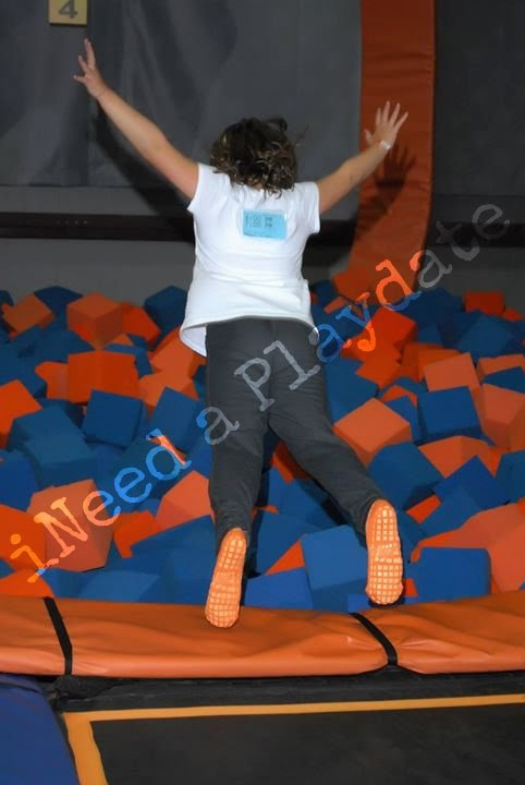Bouncing at SkyZone