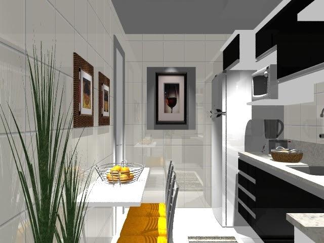 Ambientes & Ideias: Cozinha em Preto e Branco
