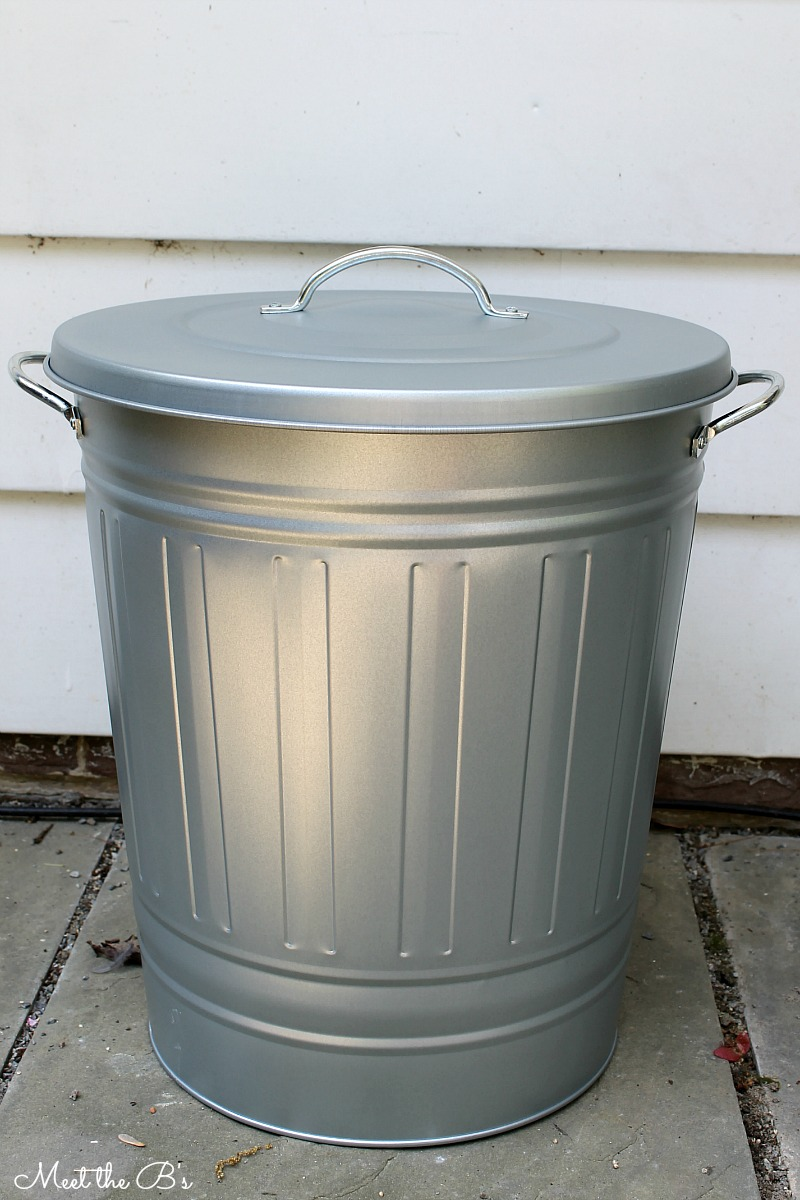 Easy DIY Patio Recycling Bin - The Inspired Hive