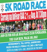 Carraig ne bhfear 5k N of Cork City... Tues 21st Aug 2018