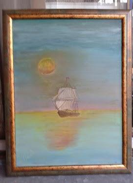 umetnička slika Galija,ulje na platnu ,umetnik Vladisav art Bogićević-udruženje slikara Luna Niš-vl