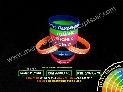 Pulseras publicitarias en peru | Pulseras asaleia| pulseras de silicona en Lima Peru.