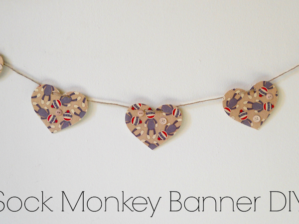 Sock Monkey Banner DIY