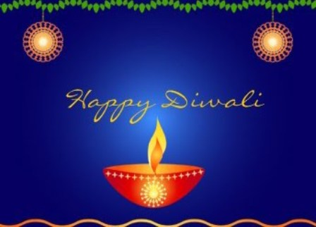 Top 10 best diwali 2011 greeting cards top 10 best wallpapers diwali greetings card blue background with diya clipart m4hsunfo