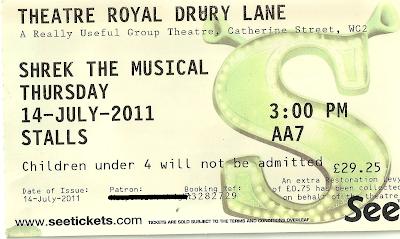 Shrek the Musical ticket