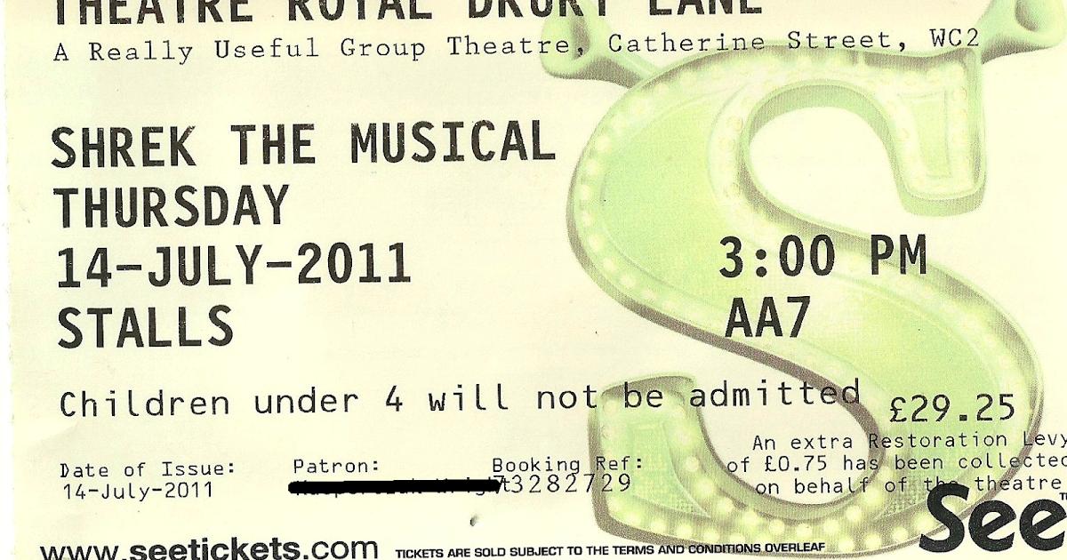 top london shows  shrek the musical   theatre royal  drury lane