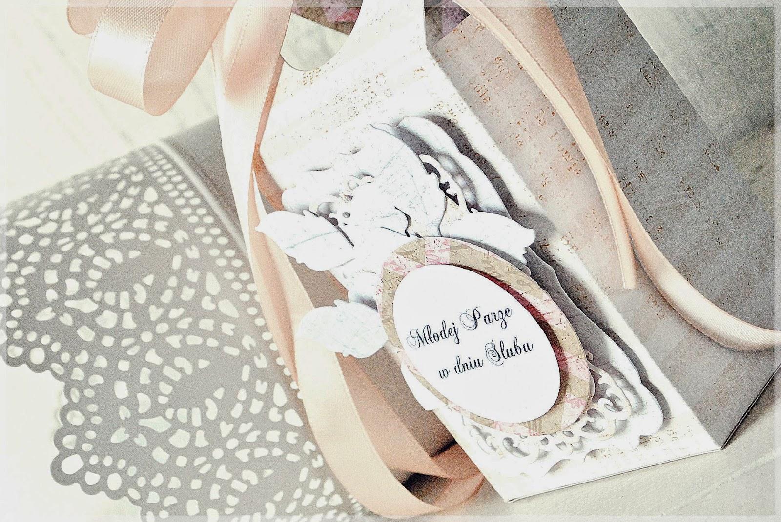 pudełeczko ślubne Sizzix Bigz Pro Die- Bag,Box,Decorative Cake