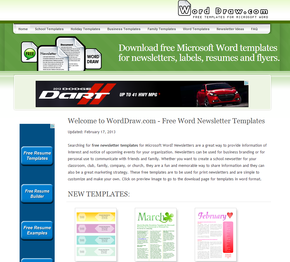 Learning never stops word draw free newsletter for Microsoft free templates