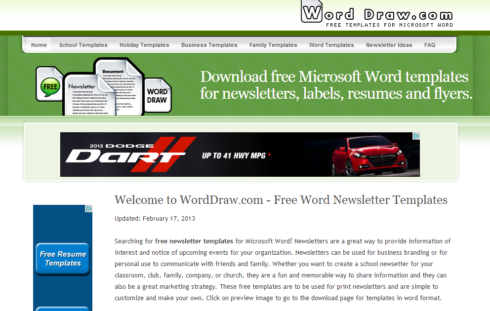 Learning Never Stops Word Draw Free newsletter templates for MS – Free Newsletter Templates for Word