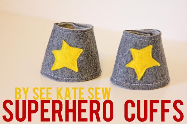 superhero cuffs - see kate sew