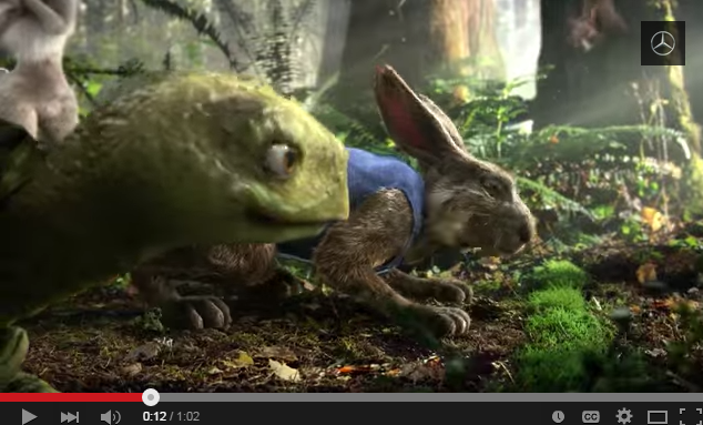 Mercedes Benz tortoise and hare