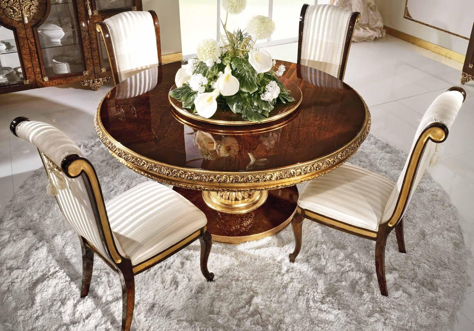 Antique French Furniture Royal Round Dining Table in Classic Style