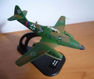 avión a escala Messerschmitt Me 262 Schwalbe marca Italeri escala 1/100