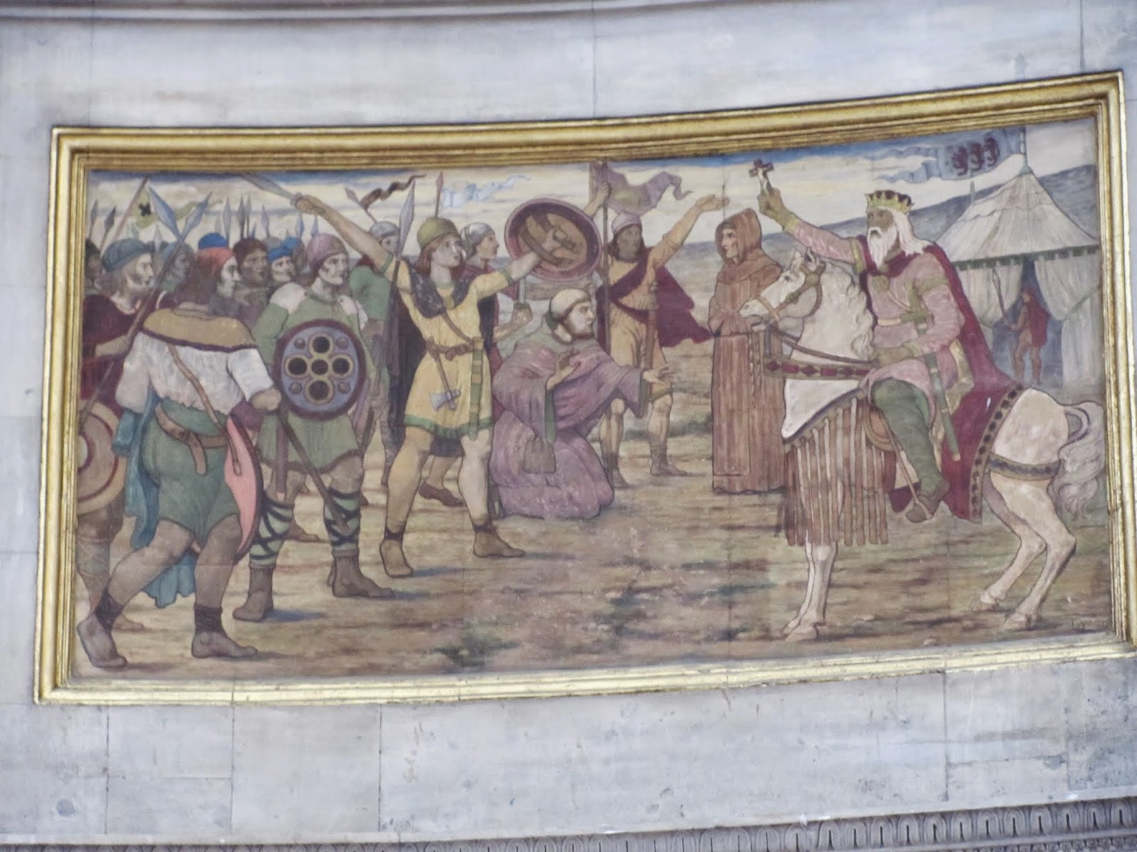Boru on the Right of the mural by James Ward at Dublin City Hall Ireland