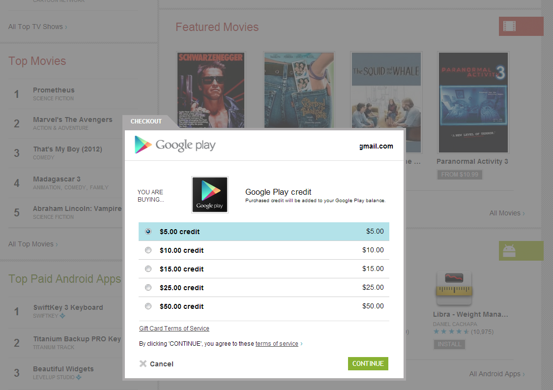 google play how to delete credit card