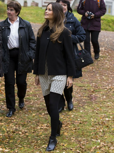 Princess Sofia and Prince Carl Philip visits cellulose company I-Cell in Alvdalen during the second day of a trip to Dalarna