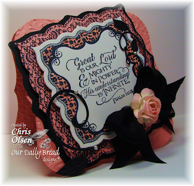 Our Daily Bread Designs, Scripture Collection 11, Crocheted Background, Romantic Floral, Chris Olsen