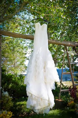 rustic vintage bridal gown