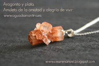 COLGANTE DE ARAGONITO Y PLATA