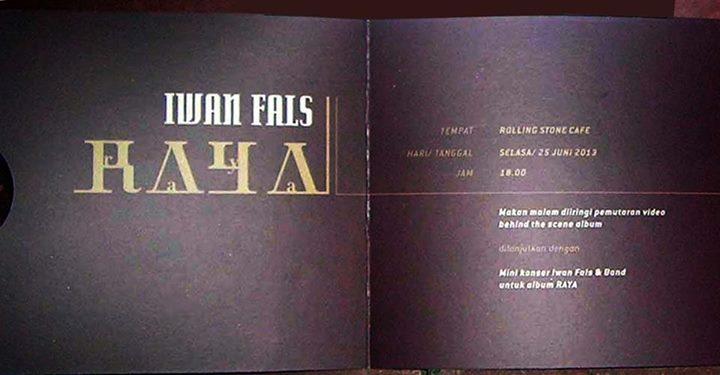 Launching Album Iwan Fals 2013 - RAYA