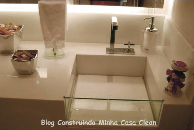 Construindo Minha Casa Clean A Beleza das Bancadas de Porcelanato! -> Como Fazer Uma Pia De Banheiro Com Porcelanato