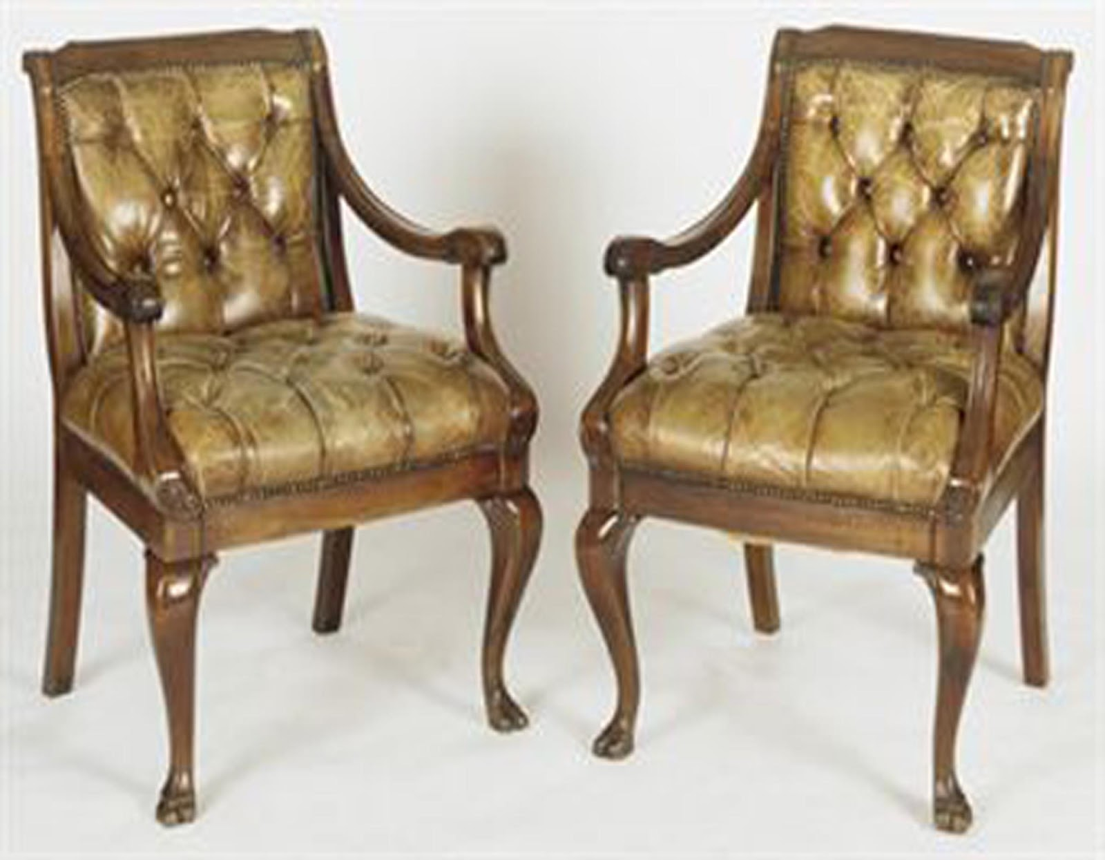 Graham Arader: A Pair of Handsome English Leather Upholstered