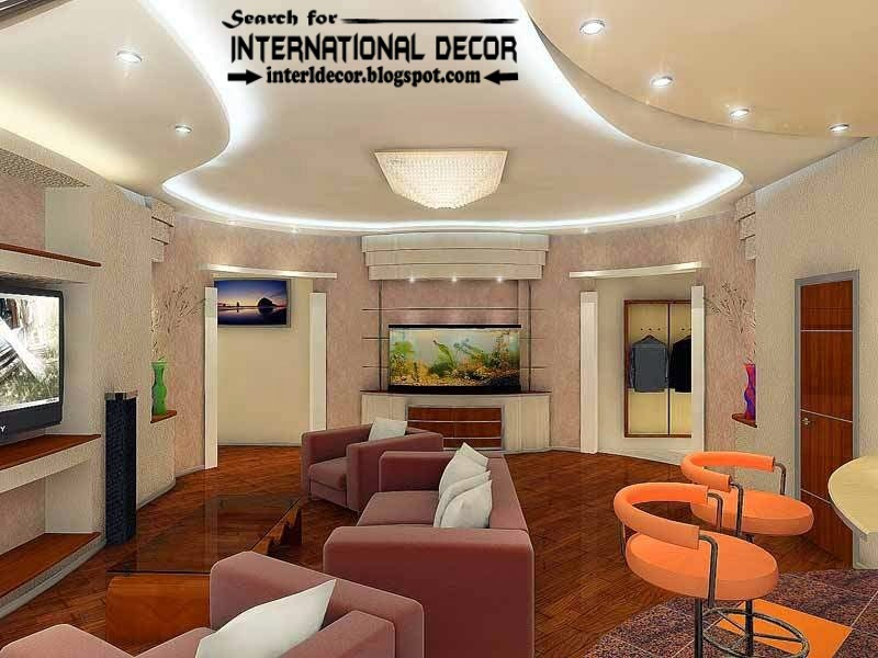 Modern Pop False Ceiling Designs Ideas 2015 Led Lighting For Living Room Part 35