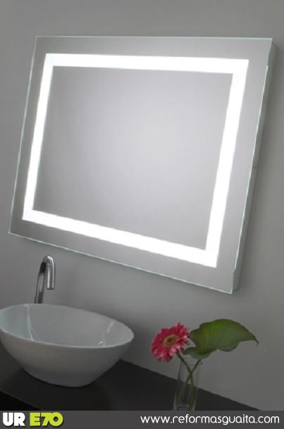 espejo baño luz perimetral